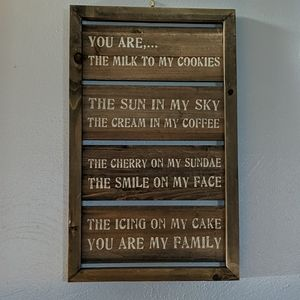 Wooden sign farmhouse style